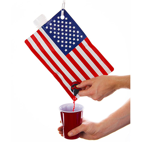 USA Flag Flask - 2 liter