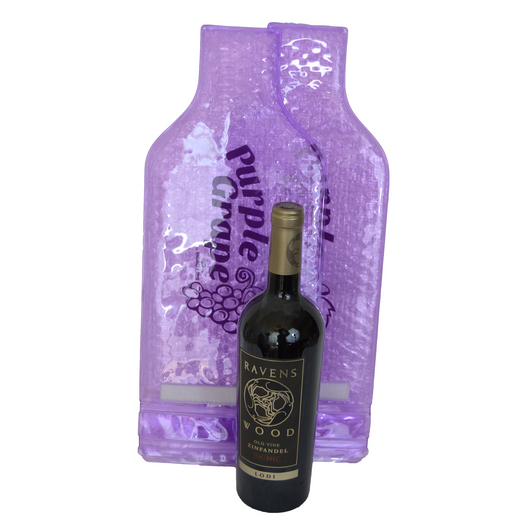 2 Purple Grape  Protective Wine Bags