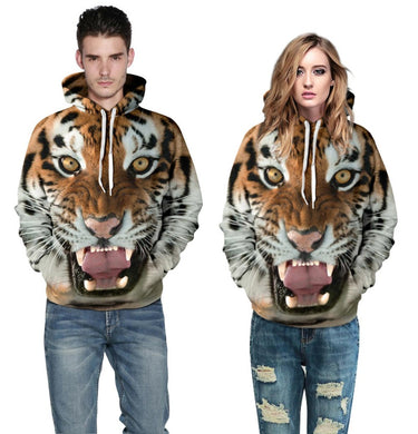 Men & Women 3d Print Tiger Sweatshirt