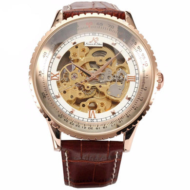 Luxury Mechanical Watch With Large Frame Strap