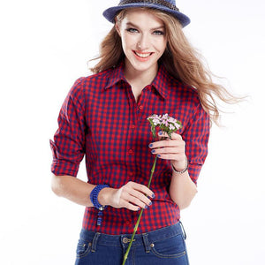 Women's Plaid Shirts Long Sleeve