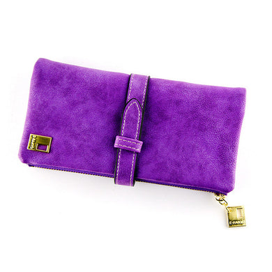 Long Women's Wallets Matte Leather