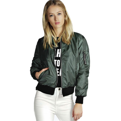 Spring & Autumn Women's Jackets With Zipper