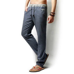 Casual Summer Linen Pants For Men