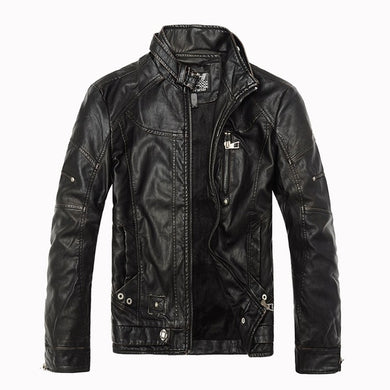 Vintage Winter Men's Casual Leather Jackets