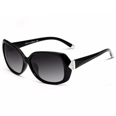 Retro Polarized Carved Diamond Sunglasses For Ladies