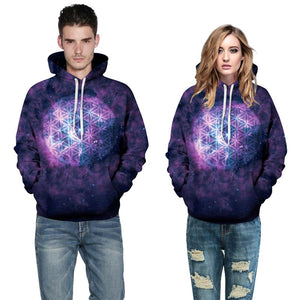 3d Sweatshirts Space Galaxy For Men & Women
