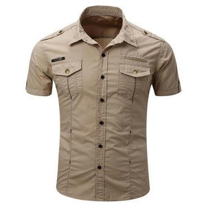 New Men's Shirt With Short Sleeve
