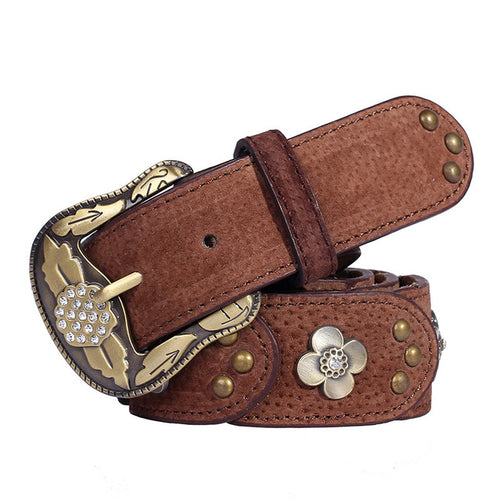 New Style Matte Retro Leather Belts For Women