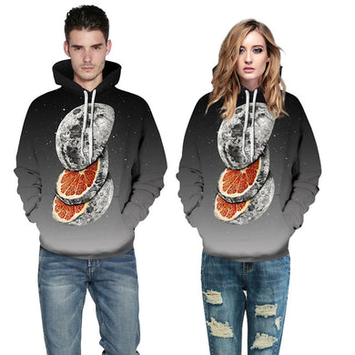 Unisex 3d Sweatshirts Planet Orange