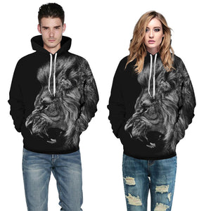Men/Women 3d Sweatshirts Ferocious Lion