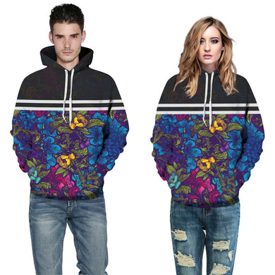 Thin Sweatshirts Unisex Print Flowers