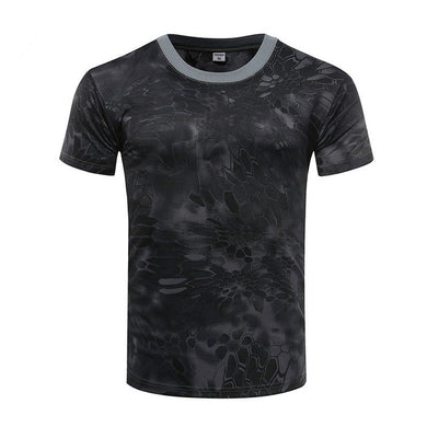 Fitness Men's Military Camouflage T Shirt