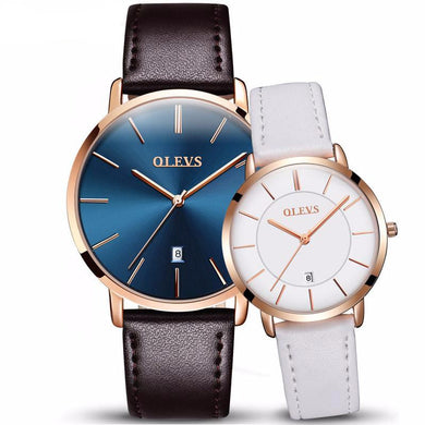 Pair Of Waterproof Quartz Wristwatches For Men & Women