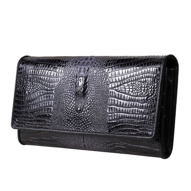 Genuine Alligator Leather Women's Long Wallets