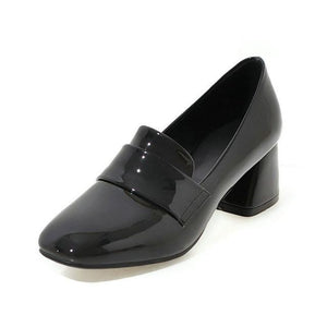 Elegant Patent Leather Shoes For Women