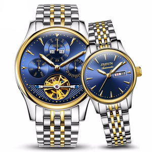 Pair Of Luxury Waterproof Mechanical Watches For Men & Women