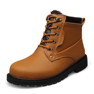 High Quality  Winter Warm Leather Boots For Men