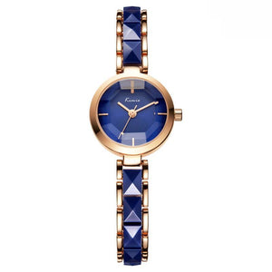 Luxury Ceramic Gold Quartz Wrist Watch For Women