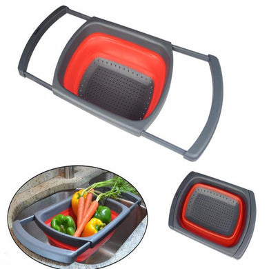 Collapsible Silicone Vegetable Colander Wash