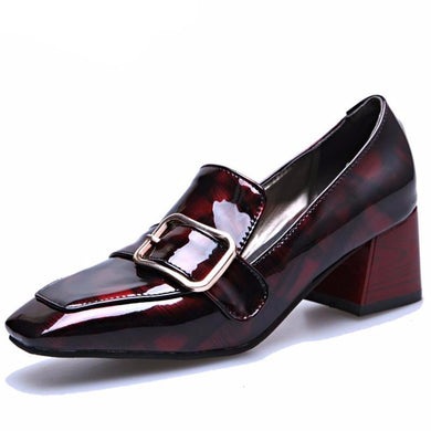 Square Heels Women's Elegant Shoes