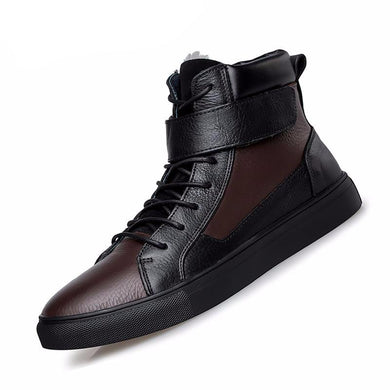 Fashion Casual Genuine Leather Men Boots