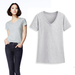 Casual Women's T-Shirts V-Neck