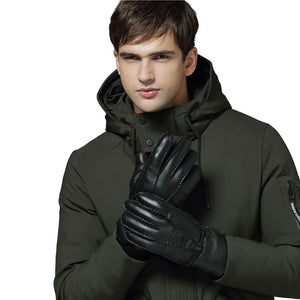 Warm Genuine Sheepskin Gloves Mittens For Men