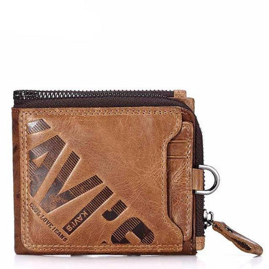 Crazy Horse Genuine Leather Wallet For Men