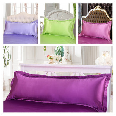 Luxury Double Artificial Satin Silk Pillowcases