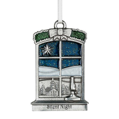 Pewter 'Silent Night' Ornament