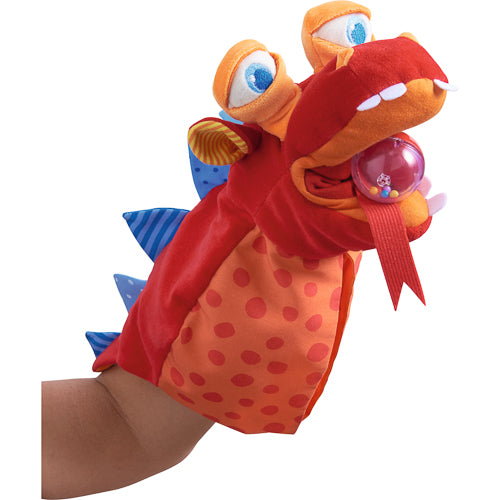 Put on a show with the HABA Eat It Up Dragon Glove Puppet! Eco-friendly toys that encourage imaginative play. Great toddler gifts.