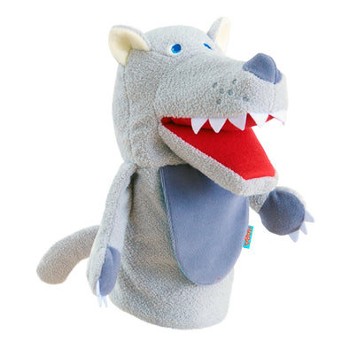 Put on a show with the HABA Eat It Up Wolf Glove Puppet! Eco-friendly toys that encourage imaginative play. Great toddler gifts.
