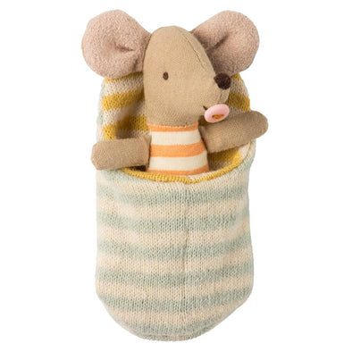 Stuffed toy Baby Mouse In Sleeping Bag by  Scandinavian company, Maileg