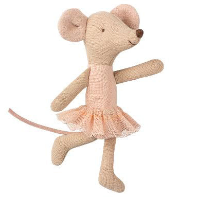 Stuffed toy Ballerina Mouse Little Sister by Scandinavian company, Maileg