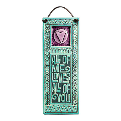 Handcrafted Melted Glass Wall Art | All of Me Loves All of You