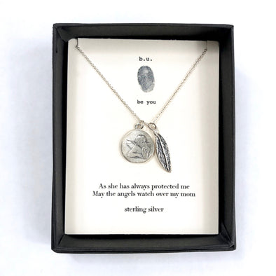 """As She Has Always Protected Me"" - Sterling Silver Necklace"