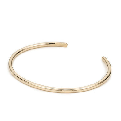 3mm-Wide Thick Gold Gibbous Cuff