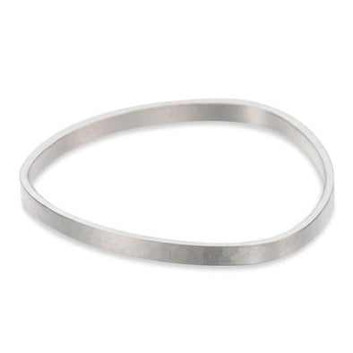 5mm-Wide Matte Silver Densa Bangle