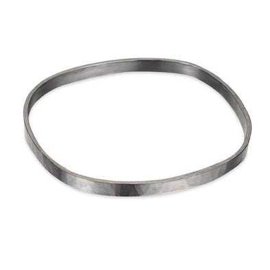 5mm-Wide Oxidized Silver Square Densa Bangle