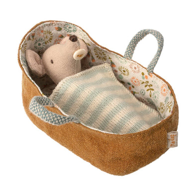 Baby Mouse in Carry Cot by Maileg