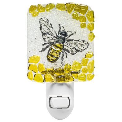 Recycled Glass Honey Bee Nightlight