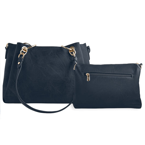 Ready 2-in-1 Vegan Leather Bag - Blue