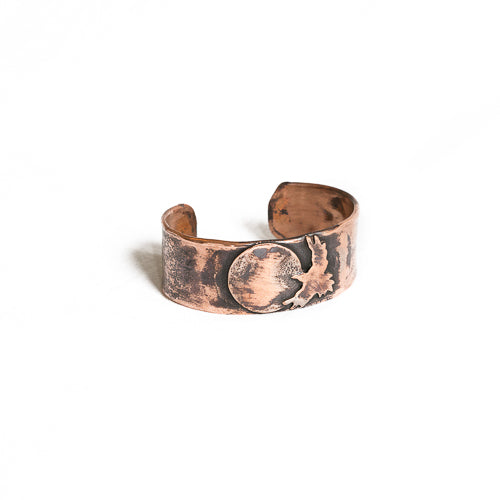 Handmade Artisan Crafted Solid Copper Cuff - Wide