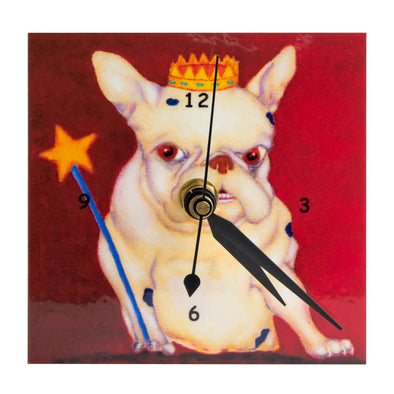 Handcrafted Wooden Art Clock | Pug