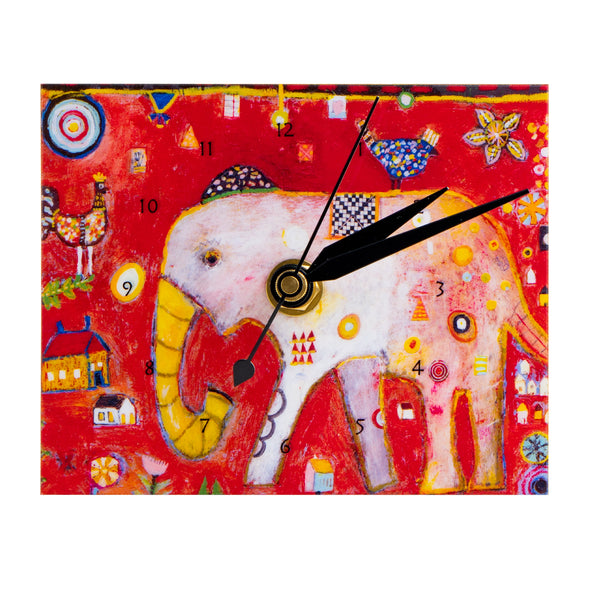 Handcrafted Wooden Art Clock | Elephant