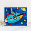 Handcrafted Wooden Art Clock | Rocket Cat