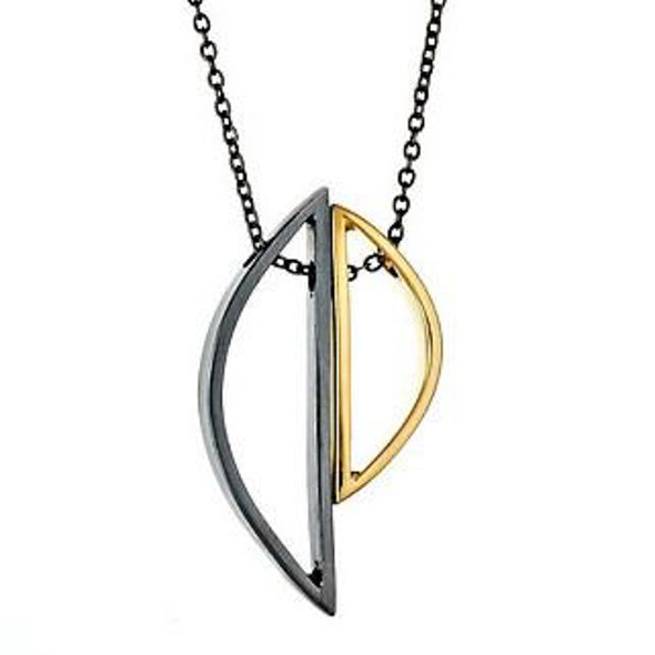 DEMI SELENE Necklace in Gold and Oxidized Silver