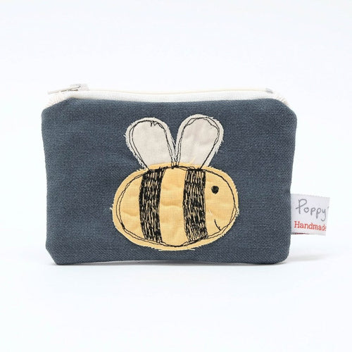 Bumble Bee Embroidered Small Useful Purse