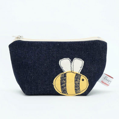 Bumble Bee Embroidered Make Up Bag